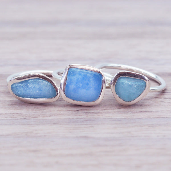Silver and Aquamarine Ring - Women's Jewellery - Indie and Harper