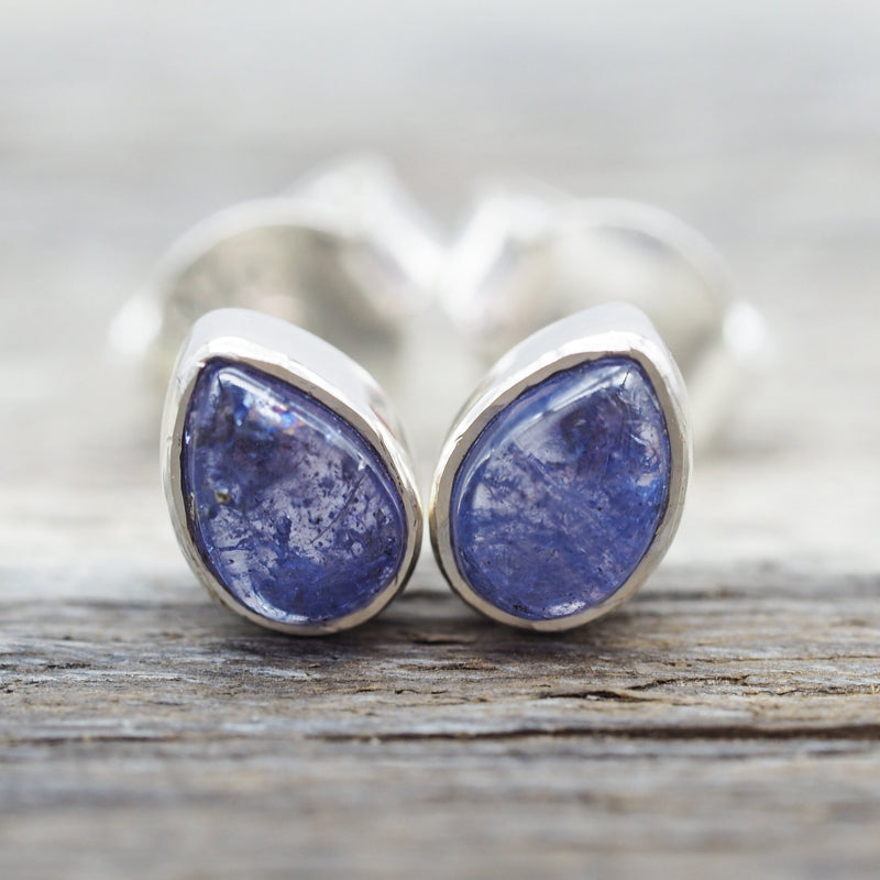 Tanzanite Earrings. Bohemian Jewellery. Indie and Harper