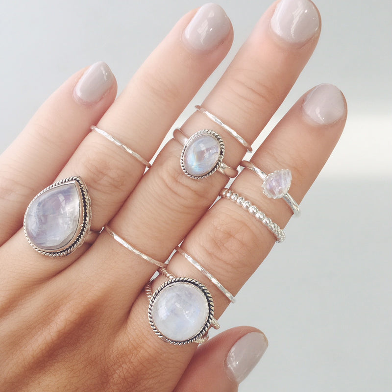 Thin Silver Stacker Ring. Bohemian Jewellery. Indie and Harper