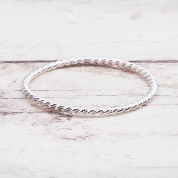 Thin Twist Stacker Ring. Bohemian Jewellery. Indie and Harper