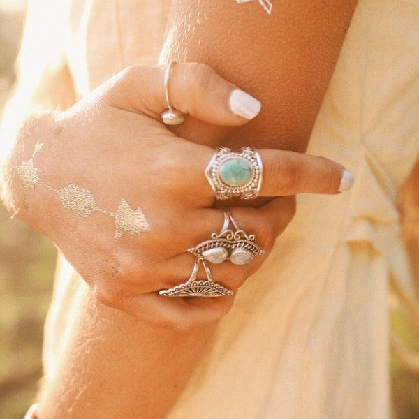 Tribal Turquoise Ring