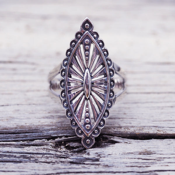 Tribal Mandala Ring. Bohemian Jewellery. Indie and Harper