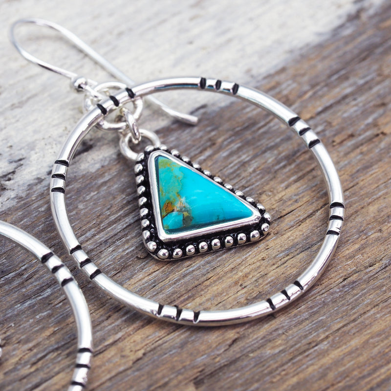 Tribal Turquoise Earrings