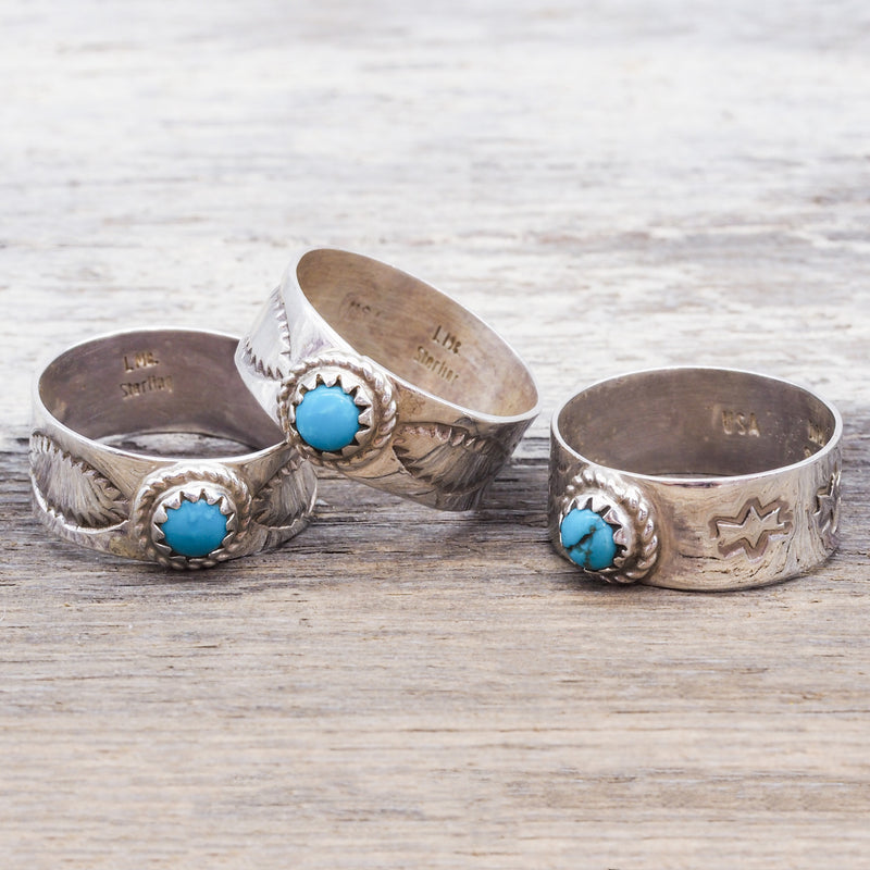 Turquoise Navajo Ring. Bohemian Jewellery. Indie and Harper