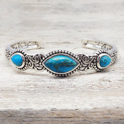 Turquoise Vine Cuff. Bohemian Jewellery. Indie and Harper