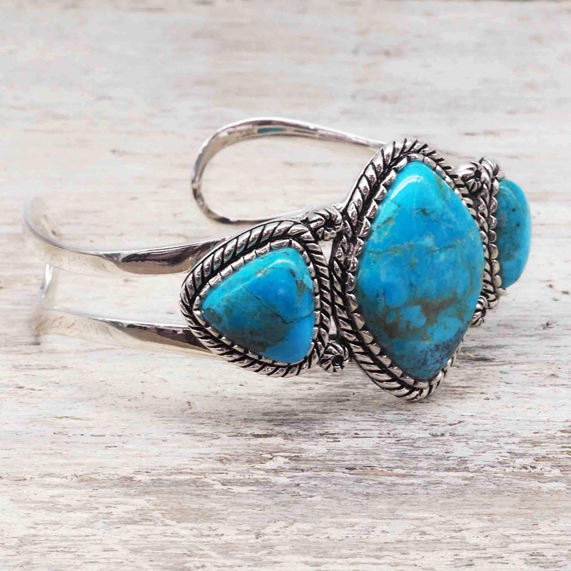 Turquoise Warrior Cuff. Bohemian Gypsy Festival Jewellery. Indie and Harper