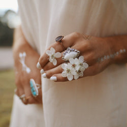 White Howlite Ring. Bohemian Jewellery. Indie and Harper