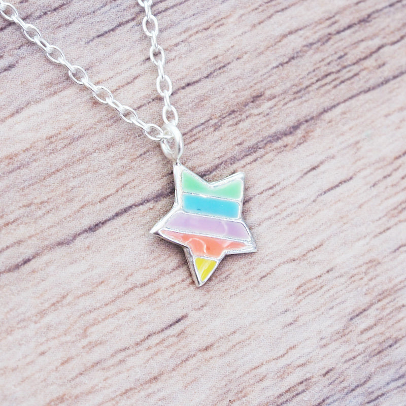 i+h Kids Rainbow Star Necklace