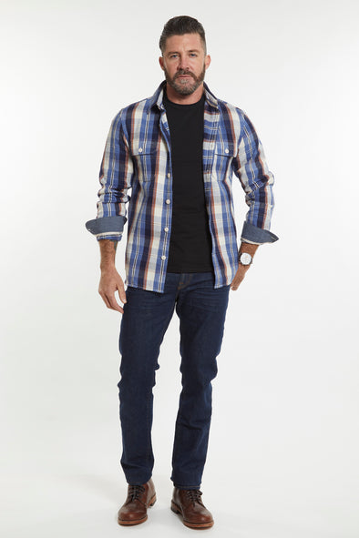 Organic Winter Flannel - Aspen Blue