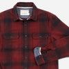 Organic Winter Flannel - Brick Red