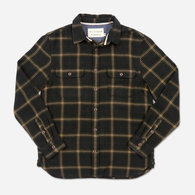 Organic Winter Flannel - Forest Green