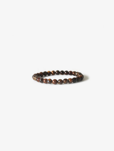 Branco -Gold Tiger Eye Earth Bracelet