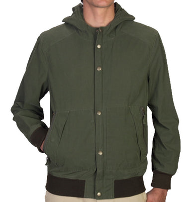 Resin Coated Poplin Hooded Flight Jacket