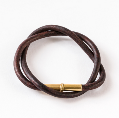 Flint Leather Cord Bracelet
