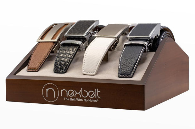 Nexbelt Accessories Brown Wood Belt Display
