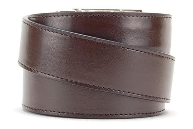 "Nexbelt Belt Brown / Fits up to 45"" waist Essential Classic Espresso Dress Belt"