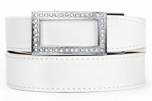 "Nexbelt Women's Belt Fits up to 40"" waist / White NEW Legardo Sleek White"