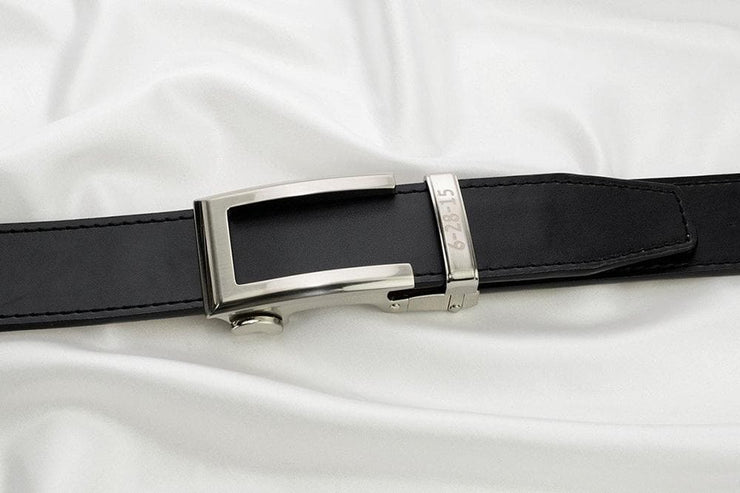 "Nexbelt Belt Black / Fit up to a 45"" waist Artemis Smooth Black Dress Belt"