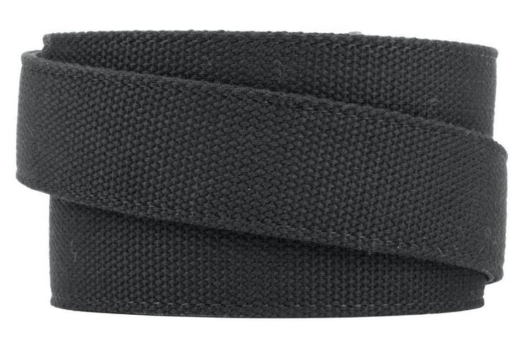 "Nexbelt Belt Black / Fits up to 50"" waist GM C6 Pewter Aston Black Canvas Strap Ratchet Belt"