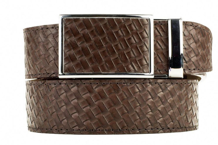 "Nexbelt Belt Brown / Fits up to 45"" waist Go-In Basket Weave Brown Ratchet Golf Belt"