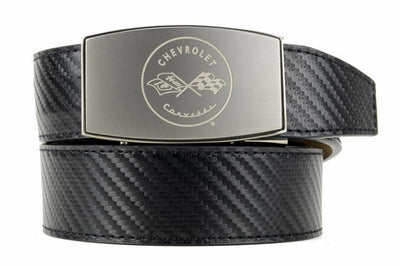 "Nexbelt Belt Black / Fits up to 45"" waist GM C1 Pewter Aston Black Carbon Fiber Ratchet Belt"