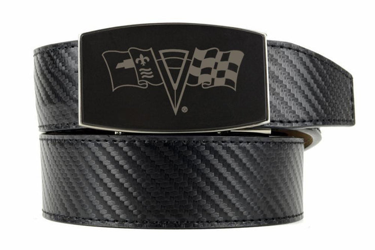 "Nexbelt Belt Black / Fits up to 45"" waist GM C2 Black Aston Black Carbon Fiber Ratchet Belt"