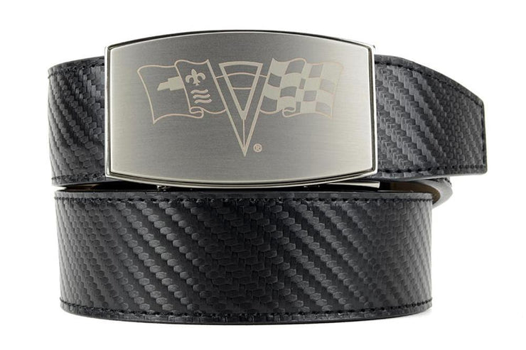 GM C2 Pewter Aston Black Carbon Fiber Ratchet Belt