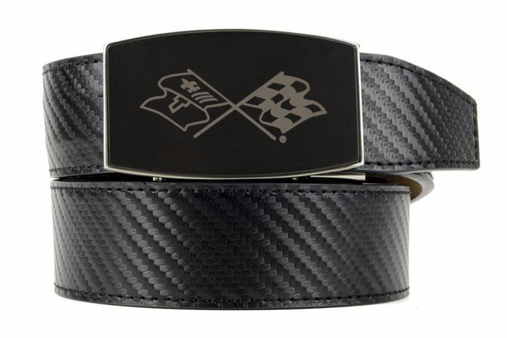 "Nexbelt Belt Black / Fits up to 45"" waist GM C3 Black Aston Black Carbon Fiber Ratchet Belt"