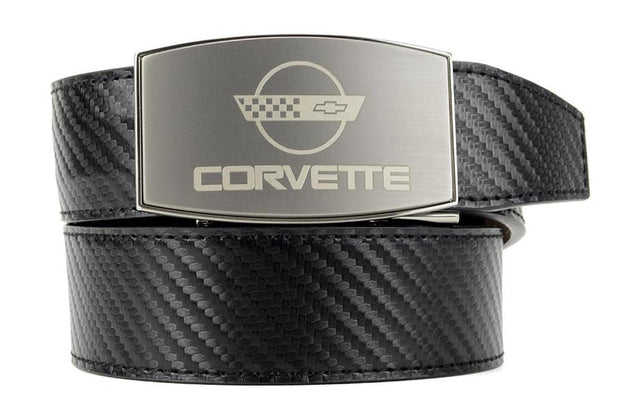 "Nexbelt Belt Black / Fits up to 45"" waist GM C4 Pewter Aston Black Carbon Fiber Ratchet Belt"