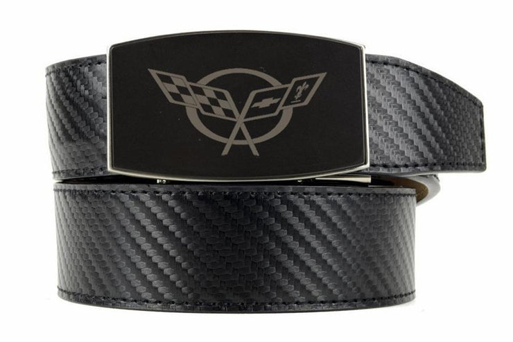"Nexbelt Belt Black / Fits up to 45"" waist GM C5 Black Aston Black Carbon Fiber Ratchet Belt"