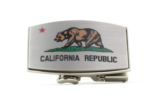 "Nexbelt Classic Buckles Pewter / 1 11/16"" x 2 13/16 California Dreamin Pewter Buckle"