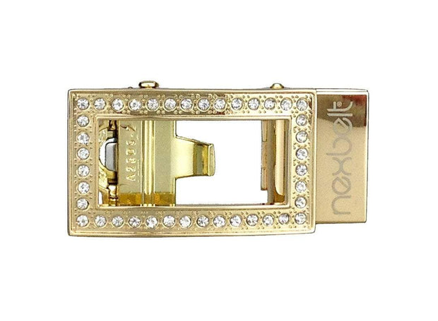 "Nexbelt Classic Buckles Gold / 1 3/16"" x 2"" Allie Gold Sleek Buckle"