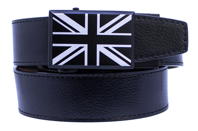 "Nexbelt Dress Belt Black / Fits up to 45"" waist Great Britain Heritage Black Series Dress Belt"