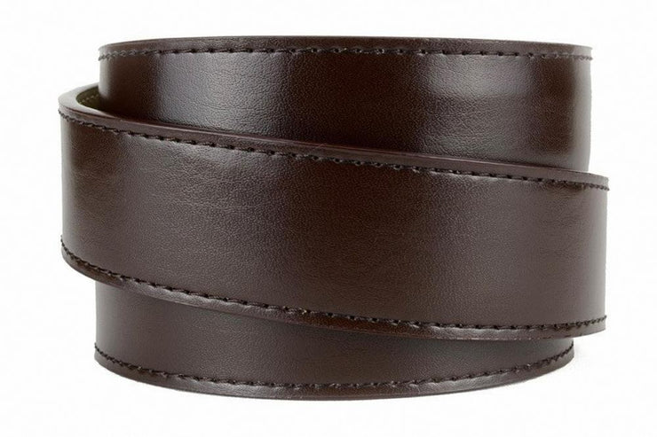 Texas Heritage Pewter Aston Espresso Dress Belt
