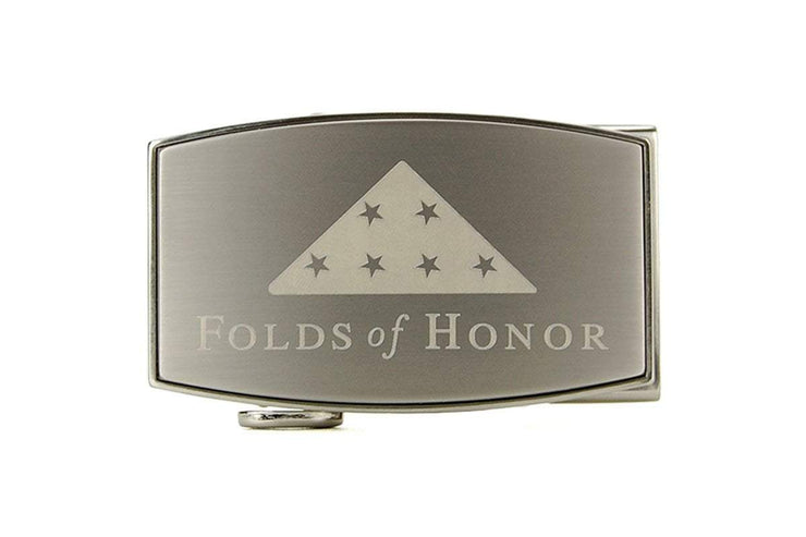 "Nexbelt Classic Buckles Gray / White / 1 11/16"" x 2 13/16"" Folds of Honor Pewter Aston Buckle"