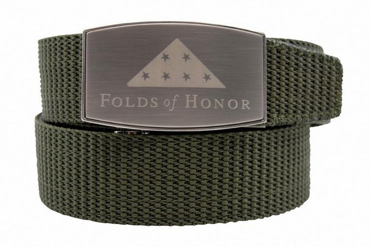 Folds Of Honor Aston Pewter Green Canvas Strap