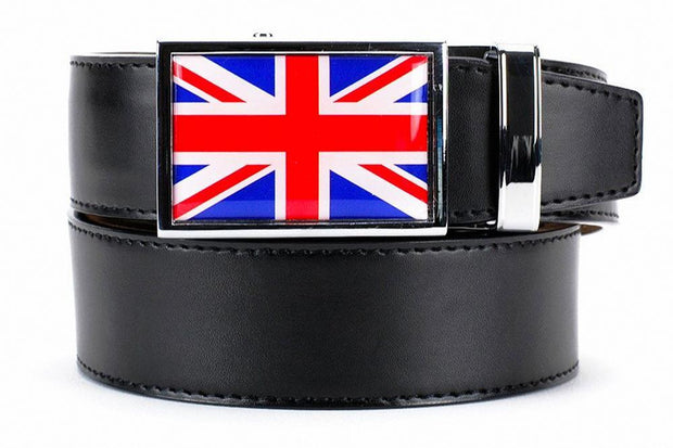 "Nexbelt Belt Black / Fits up to 45"" waist Great Britain Heritage Black Dress Belt"