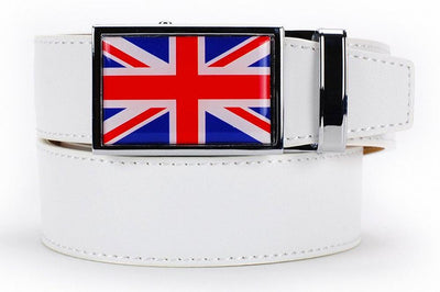 "Nexbelt Belt White / Fits up to 45"" waist Great Britain Heritage White Dress Belt"