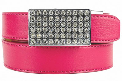 Sleek Crystal Pink Women Golf Belts