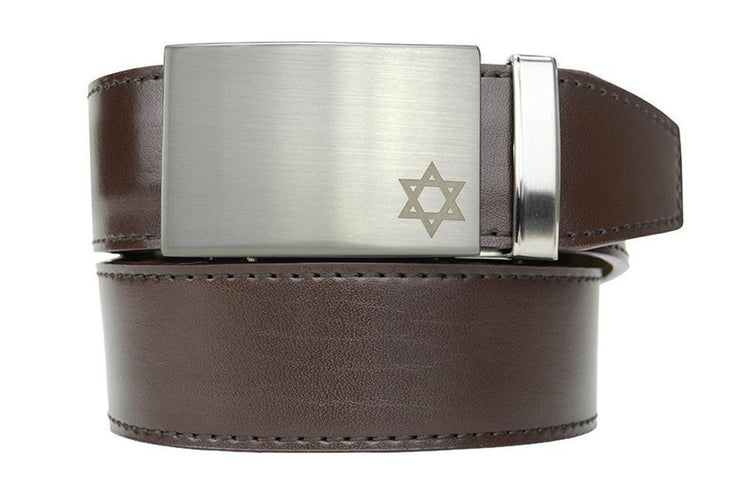 "Nexbelt Belt Espresso / Fits up to 45"" waist Faith Star Nickel Espresso Belt"