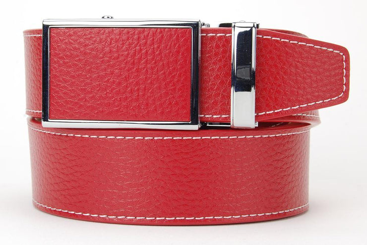 Sunday Red #1 Colour Series Golf Belts - White Stitching