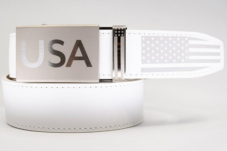 "Nexbelt Belt White / Fits up to 45"" waist Super Patriot White"