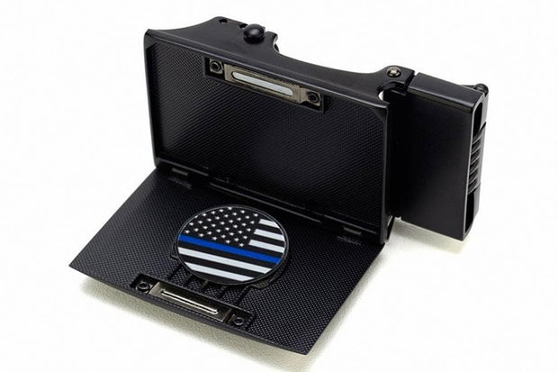 "Nexbelt Belt Black/Blue / Fits up to 45"" waist Thin Blue Line Series Golf Belt"