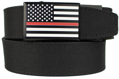 "Nexbelt Gun Belt Fits up to 50"" / Black Thin Redline EDC Black Nylon"