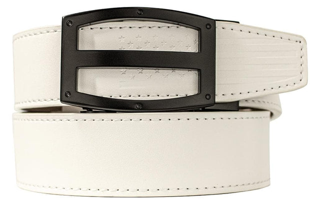 "Nexbelt Dress Belt Fits up to 45"" waist / White Titan USA White"