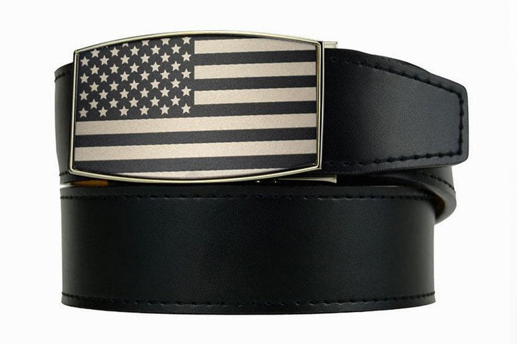 "Nexbelt Casual Belt Black / Fits up to 45"" waist USA Heritage Black Aston Black Dress Belt"