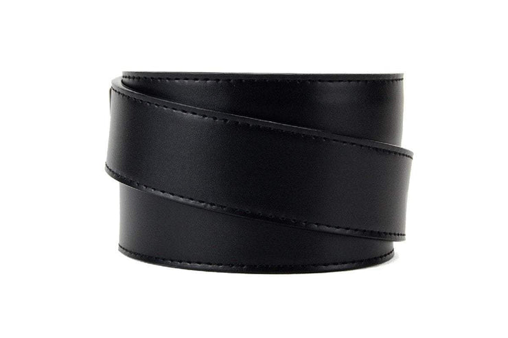 "Nexbelt Casual Belt Black / Fits up to 45"" waist USA Heritage Pewter Aston Black Dress Belt"