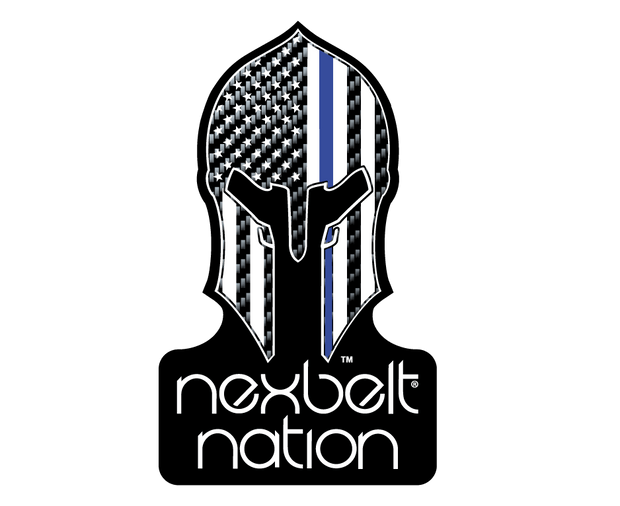 "Nexbelt Golf Belt Black/Blue / Fits up to 45"" waist Thin Blue Line Series Golf Belt"