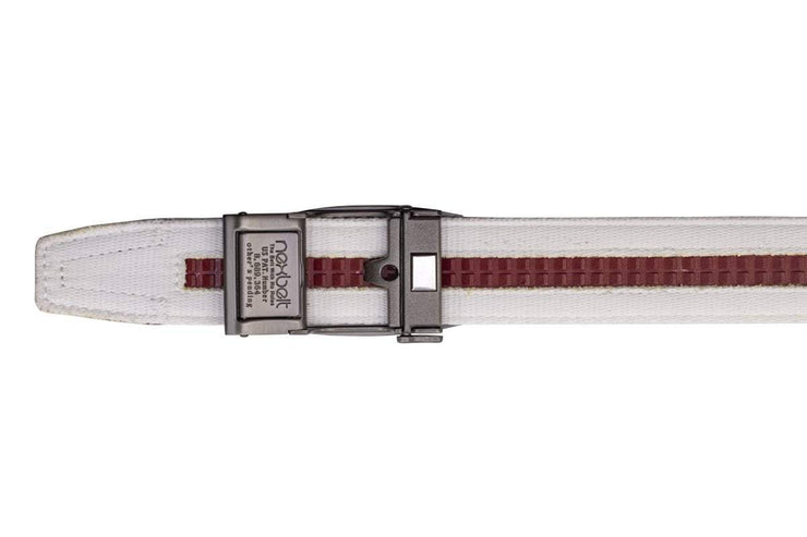 "Nexbelt Casual Belt White / Fits up to 50"" Newport White V.4"
