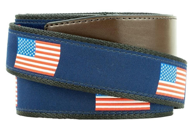 "Nexbelt Belt Brown/Blue / Fits up to 50"" waist Hampton USA"